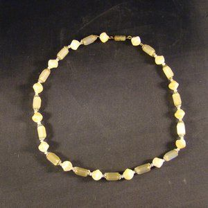 """Jewelry - Vintage Glass and Stone Necklace 16"""""""